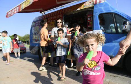 """""""אוטו גלידה"""" – הפתעה קרירה וקיצית הסתובבה השבוע ברחובות מודיעין"""