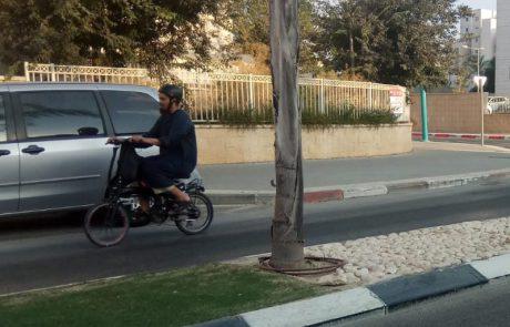 ככה לא נאבקים בסכנה: רק 87 דוחות נרשמו לעברייני תנועה באופניים חשמליות במודיעין ב-2018