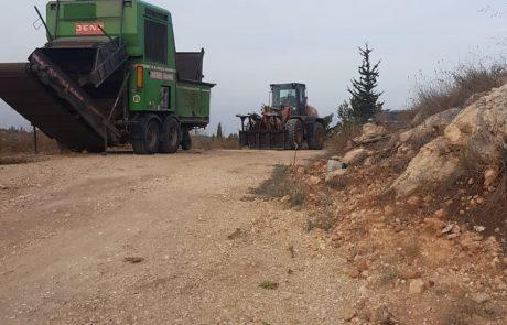 החלו העבודות לשידרוג כביש הגישה לבית העלמין