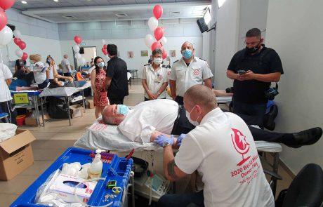 500 תושבים תרמו דם במודיעין לרגל יום תורם הדם הבינלאומי