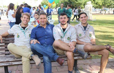 1800 תלמידים ביריד ההתנדבות העירוני