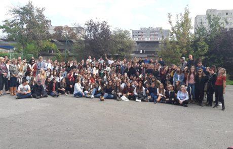 תיכון עירוני ה' במסע ראשון לפולין