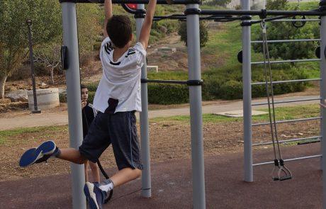 מתחם אימונים חדש בפארק ענבה