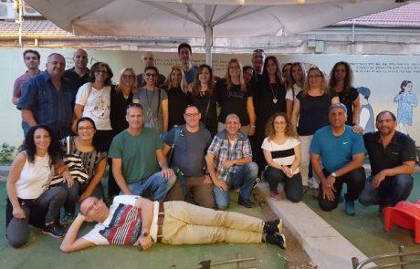 סיירת הורים העירונית נפגשה עם סיירת הורים של ירושלים