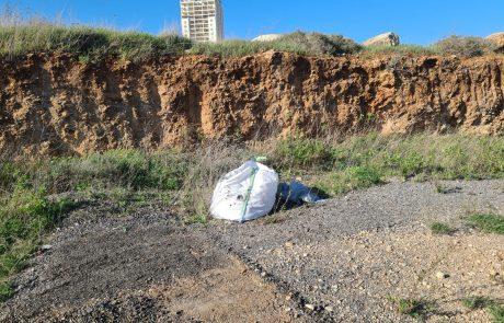 פסולת בניין שנתפסה ברחוב ניסן