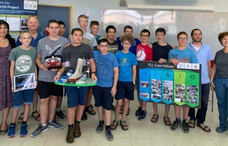 """נבחרת אמי""""ת בנים ברובוטיקה תשתתף בתחרות הבינלאומית"""