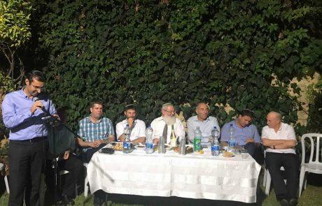 הבית היהודי במודיעין בהרמת כוסית חגיגית