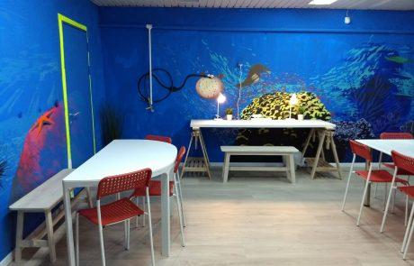 מרכז למידה משחקים והרצאות חדר נפתח בבית הספר מעלות